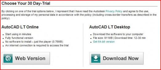 Autodesk releases web-based free trial of AutoCAD LT 2011 : GraphicSpeak