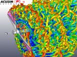 Acusim analysis of turbine