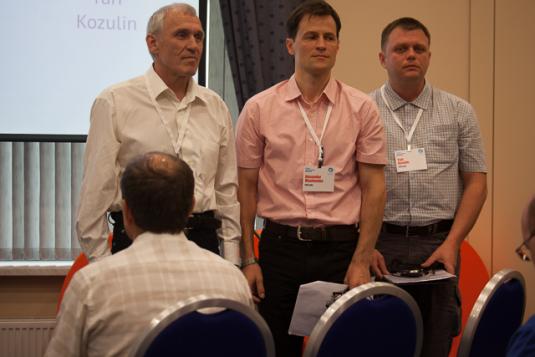 Ascon's C3D team: Nicolai Golovanov, Alexander Maximento, Yuri Kozulin. (Source: JPR)