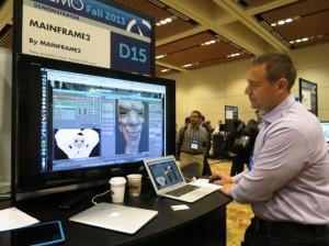Nikola Bozinovic demonstrates Mainframe2 at Demo (Source: Jon Peddie Research)