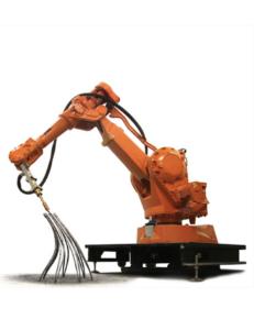 Building bridges: Joris Laarman's MX3D robot is capable of building 3D structures in space. (Source: http://www.jorislaarman.com/mx3d-metal.html(