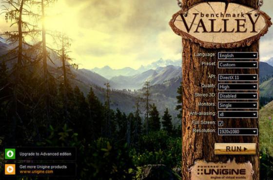 Valley is a GPU stress-testing tool from Unigine. (Source: Unigine).