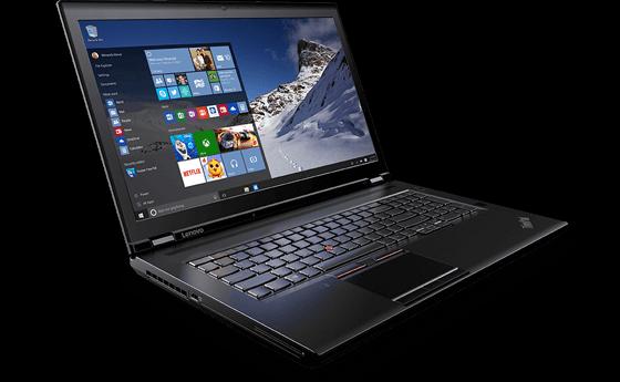 The Lenovo ThinkPad P70 mobile workstation. (Source: Lenovo)