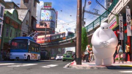 Disney's Big Hero 6 used the new Hyperion rendering engine, created in-house. (Source: Disney/Pixar)